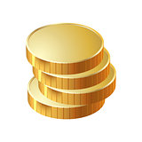 money coin pile of gold