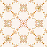 Seamless gold baroque background in vintage style