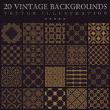 Vintage backgrounds. Seamless pattern ornament