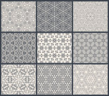 Vintage backgrounds seamless pattern set