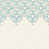 Seamless border vector ornate in Eastern style