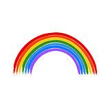 Art rainbow color brush stroke vector