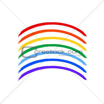 Art rainbow color brush strokes vector