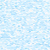 Blue triangle seamless mosaic background