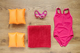 Little girl's beach accessories