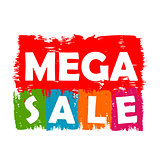 mega sale drawn label