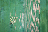 Vintage green weathered wooden fence texture