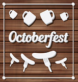 Oktoberfest festival typography background