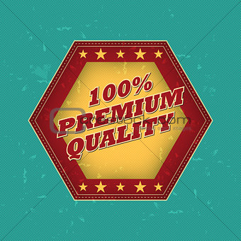 100 percentages premium quality - retro label