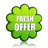 fresh spring offer green flower label
