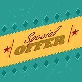 special offer retro label