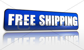 free shipping blue banner