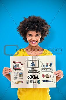 Composite image of social media doodle