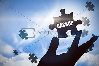 Backup against blue sky