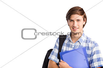 Composite image of smiling student