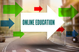 Online education against new york street