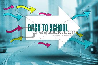 Back to school against new york street
