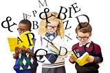 Composite image of school kids