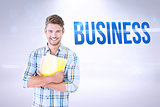 Business against grey background