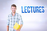 Lectures against grey background