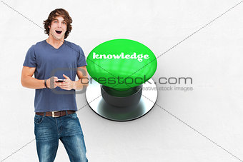 Knowledge against digitally generated green push button