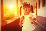 Composite image of school kid