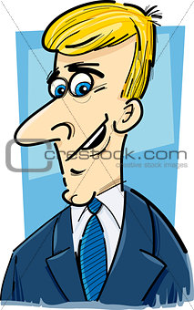 businessman caricature cartoon