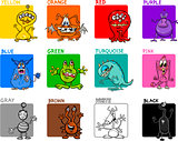 main colors cartoon set