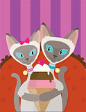 Siamese Cats Ice Cream