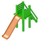 childrens slide playground isometric vector