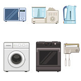 Six household appliances