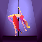 Dancer on pole
