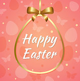Pink Easter background