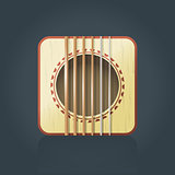 Vector guitar icon for music software