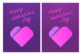 Vector illustration of greeting cards for St. Valentines Day
