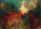 Vintage color abstract polygonal background