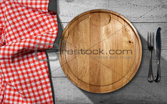 Cutting Board and Cutlery - Table and Tablecloth