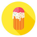 Easter Cake Circle Icon with long Shadow