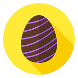 Easter Egg with Line Decor Circle Icon