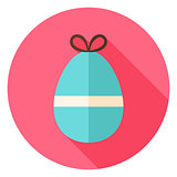 Easter Egg with small Bow Knot Circle Icon