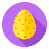 Easter Egg with small Dots Decor Circle Icon