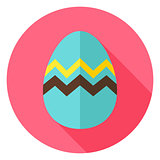 Easter Egg with Zigzag Circle Icon