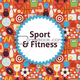 Flat Vector Pattern Sport Healthy Lifestyle Background