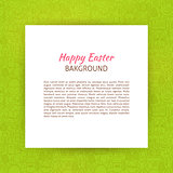 Paper over Happy Easter Line Art Background