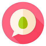Speech Bubble with Easter Egg Circle Icon
