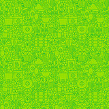 Thin Irish Line Saint Patrick Day Seamless Green Pattern