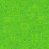 Thin Line Saint Patrick Day Seamless Green Pattern