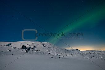 Aurora on a starry night