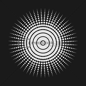 Abstract dot shape, vector design element