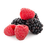 Raspberry with blackberry